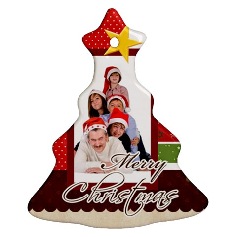 Merry Christmas By Betty   Ornament (christmas Tree)    Hdwiasp8cj8u   Www Artscow Com Front