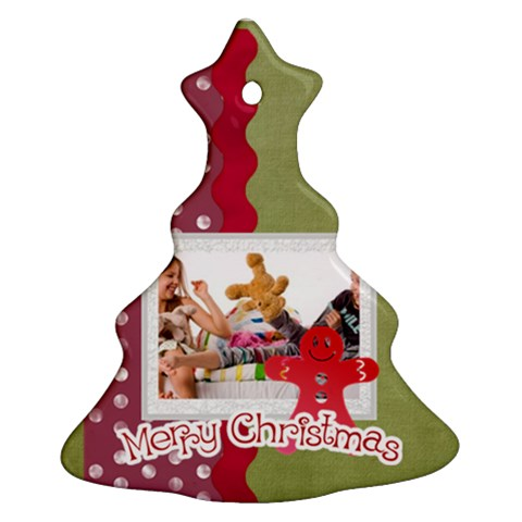 Merry Christmas By Betty   Ornament (christmas Tree)    Za7xrhajaef0   Www Artscow Com Front