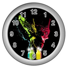 Splash Dance Wall Clock (Silver) by OurInspiration