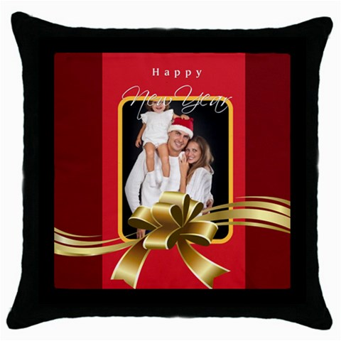 Merry Christmas By Angena Jolin   Throw Pillow Case (black)   04mprlsnvp6z   Www Artscow Com Front