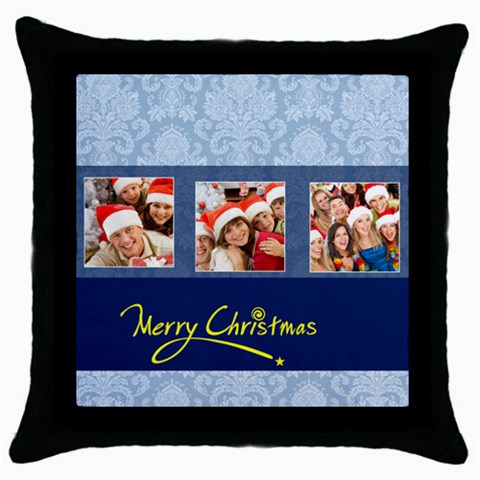 Merry Christmas By Angena Jolin   Throw Pillow Case (black)   A8jawk3ly3fg   Www Artscow Com Front