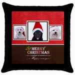 merry christmas - Throw Pillow Case (Black)