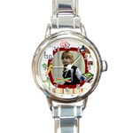 kinder watch - Round Italian Charm Watch