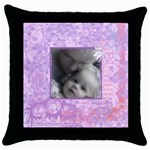 LaylaandMa - Throw Pillow Case (Black)