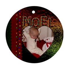 Noel Round Ornament (2 Sided) By Lil    Round Ornament (two Sides)   Xx70a6bl309h   Www Artscow Com Back