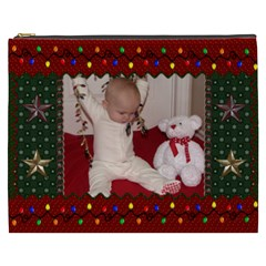 Christmas Keeper Xxxl Cosmetic Bag By Lil    Cosmetic Bag (xxxl)   6wqmln8bzu7e   Www Artscow Com Front