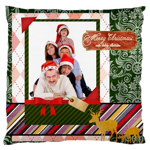 Merry Christmas By Betty   Large Cushion Case (one Side)   Irwlibifq7x3   Www Artscow Com Front