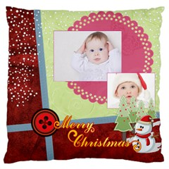 Merry Christmas By Betty   Large Cushion Case (two Sides)   U2pn2qufhfh4   Www Artscow Com Front