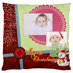 Merry Christmas By Betty   Large Cushion Case (two Sides)   U2pn2qufhfh4   Www Artscow Com Back