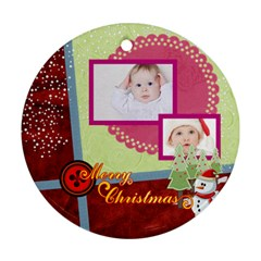 Merry Christmas By Betty   Round Ornament (two Sides)   X4gydd7p5bdx   Www Artscow Com Back