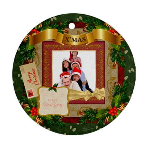 Merry Christmas By Betty   Ornament (round)   Pvdgqcz7sjix   Www Artscow Com Front