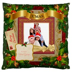 Merry Christmas By Betty   Large Cushion Case (two Sides)   2nofkvin43p6   Www Artscow Com Back