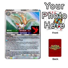 Queen Pokemon 1 53 New By Seth   Playing Cards 54 Designs   Brp94g82ab0e   Www Artscow Com Front - DiamondQ