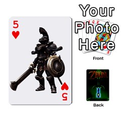 Zelda By Seth   Playing Cards 54 Designs   6ugzjg4fhora   Www Artscow Com Front - Heart5