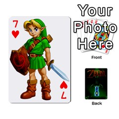 Zelda By Seth   Playing Cards 54 Designs   6ugzjg4fhora   Www Artscow Com Front - Heart7