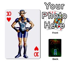 Zelda By Seth   Playing Cards 54 Designs   6ugzjg4fhora   Www Artscow Com Front - Heart10