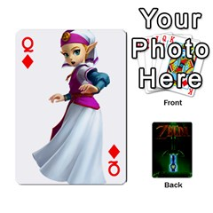 Queen Zelda By Seth   Playing Cards 54 Designs   6ugzjg4fhora   Www Artscow Com Front - DiamondQ