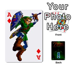 Ace Zelda By Seth   Playing Cards 54 Designs   6ugzjg4fhora   Www Artscow Com Front - DiamondA