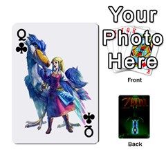 Queen Zelda By Seth   Playing Cards 54 Designs   6ugzjg4fhora   Www Artscow Com Front - ClubQ