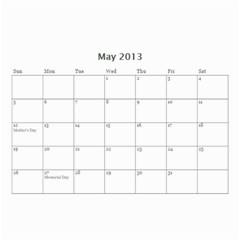 Nana By Tina Rosamond   Wall Calendar 8 5  X 6    Aw75sbs9od5z   Www Artscow Com May 2013