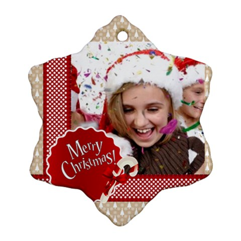 Merry Christmas By M Jan   Ornament (snowflake)   Nnea7lc7xm19   Www Artscow Com Front