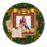 merry christmas - Collage Round Mousepad