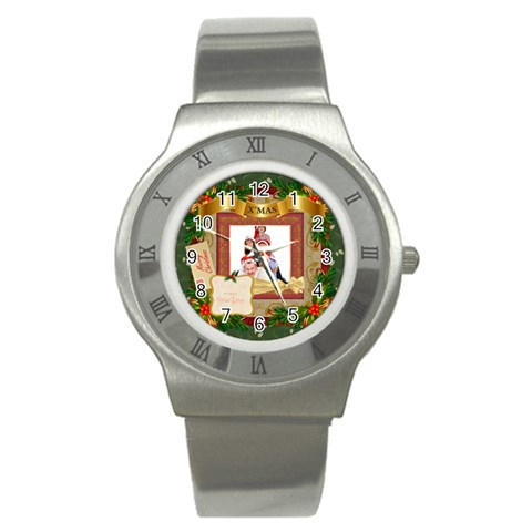 Merry Christmas By Betty   Stainless Steel Watch   G3waw19x9q6t   Www Artscow Com Front