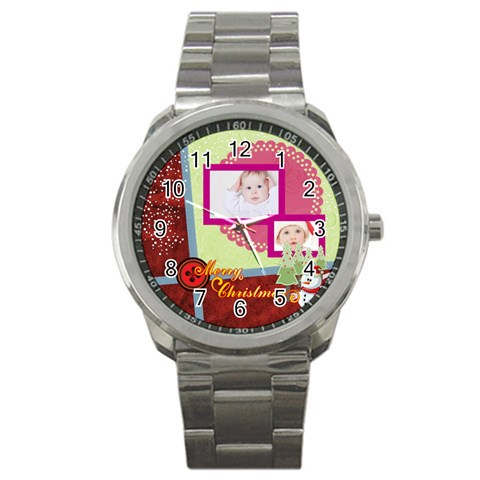 Merry Christmas By Betty   Sport Metal Watch   Yr4lnz886csu   Www Artscow Com Front