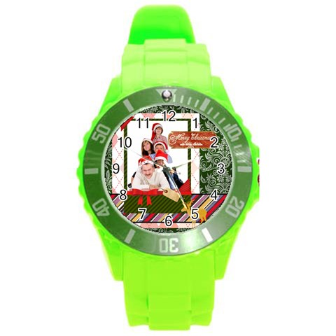 Merry Christmas By Betty   Round Plastic Sport Watch (l)   9cwxgzqihpql   Www Artscow Com Front