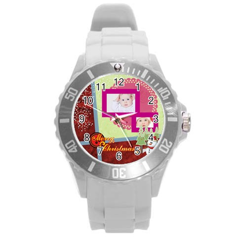 Merry Christmas By Betty   Round Plastic Sport Watch (l)   1d2wrn8k6c8d   Www Artscow Com Front