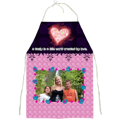 A Family Created By Love  By Digitalkeepsakes   Full Print Apron   Wam4oq2o51nx   Www Artscow Com Front