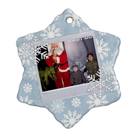 Niki By Maria Georgieva   Ornament (snowflake)   2k384je6bbch   Www Artscow Com Front