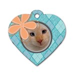 Argyle Tag - Dog Tag Heart (Two Sides)