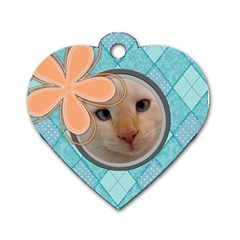 Argyle Tag By Digitalkeepsakes   Dog Tag Heart (two Sides)   Zxd21cbv3jbz   Www Artscow Com Back