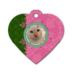 Fancy Tag - Dog Tag Heart (Two Sides)
