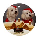 Christmas village round Ornament (2 Sided) - Round Ornament (Two Sides)