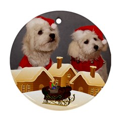 Christmas Village Round Ornament (2 Sided) By Deborah   Round Ornament (two Sides)   Thhe6v5rnsc8   Www Artscow Com Back