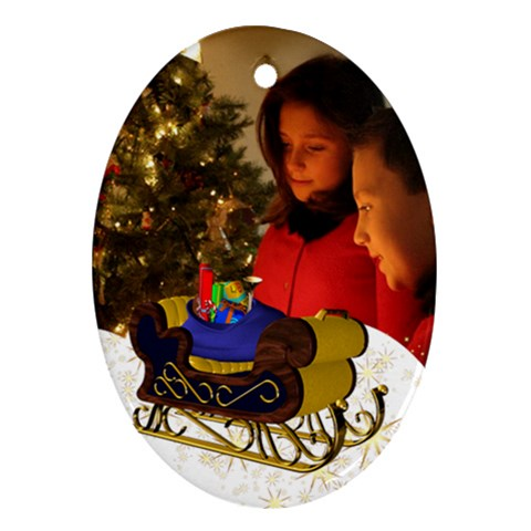 Christmas Oval Ornament By Deborah   Ornament (oval)   Ph2y3ka5lcyw   Www Artscow Com Front