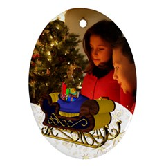 Christmas Oval Ornament (2 Sided) By Deborah   Oval Ornament (two Sides)   7kwqxnb2g3cc   Www Artscow Com Front