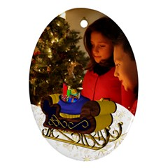 Christmas Oval Ornament (2 Sided) By Deborah   Oval Ornament (two Sides)   7kwqxnb2g3cc   Www Artscow Com Back