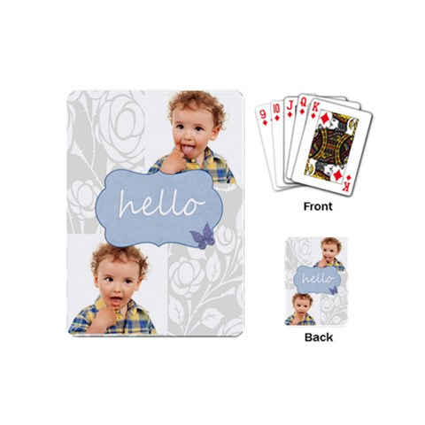 Merry Christmas By Jo Jo   Playing Cards Single Design (mini)   Nxumf7c07bb1   Www Artscow Com Back