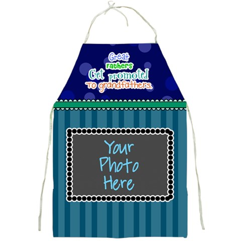 Great Fathers Get Promoted To Grandfathers  By Digitalkeepsakes   Full Print Apron   Nb3o4rqk68hu   Www Artscow Com Front
