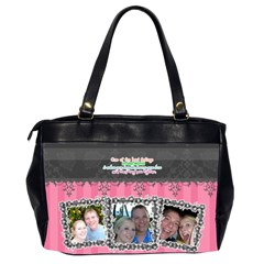 Hug The Person You Love  By Digitalkeepsakes   Oversize Office Handbag (2 Sides)   9ccf47s3vygi   Www Artscow Com Back