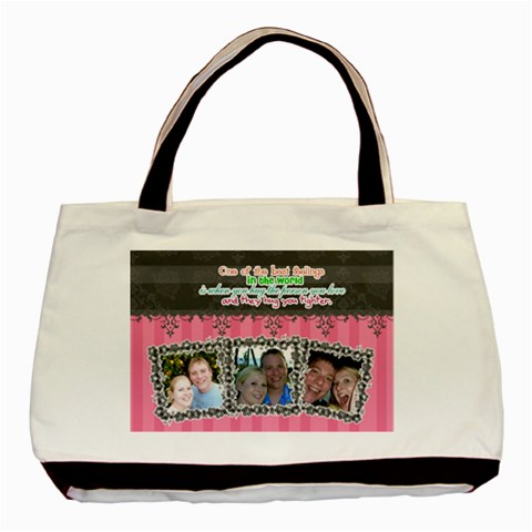 Hug The Person You Love  By Digitalkeepsakes   Basic Tote Bag   Bm1hi6dupg9z   Www Artscow Com Front