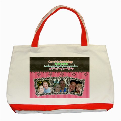 Hug The Person You Love  By Digitalkeepsakes   Classic Tote Bag (red)   Sab9m6d28vfd   Www Artscow Com Front