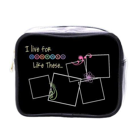 I Live For Moments Like These  By Digitalkeepsakes   Mini Toiletries Bag (one Side)   63nhtvmk941e   Www Artscow Com Front