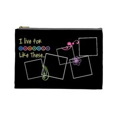 I Live For Moments Like These  By Digitalkeepsakes   Cosmetic Bag (large)   2ppq12vec2sw   Www Artscow Com Front