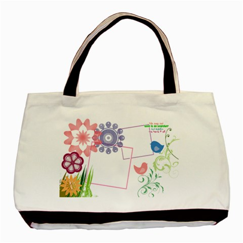 Together We Have It All  By Digitalkeepsakes   Basic Tote Bag   4semelzohahl   Www Artscow Com Front