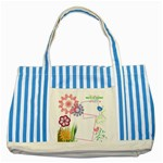 Together we have it all. - Striped Blue Tote Bag