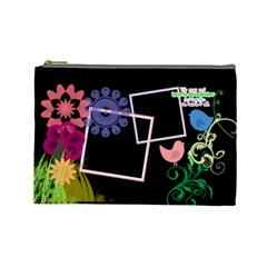 Together We Have It All  By Digitalkeepsakes   Cosmetic Bag (large)   87z8l7xpracy   Www Artscow Com Front